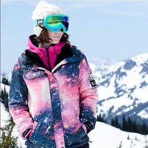 NWOT Glamour Kills Galaxy Print Snowboard Jacket